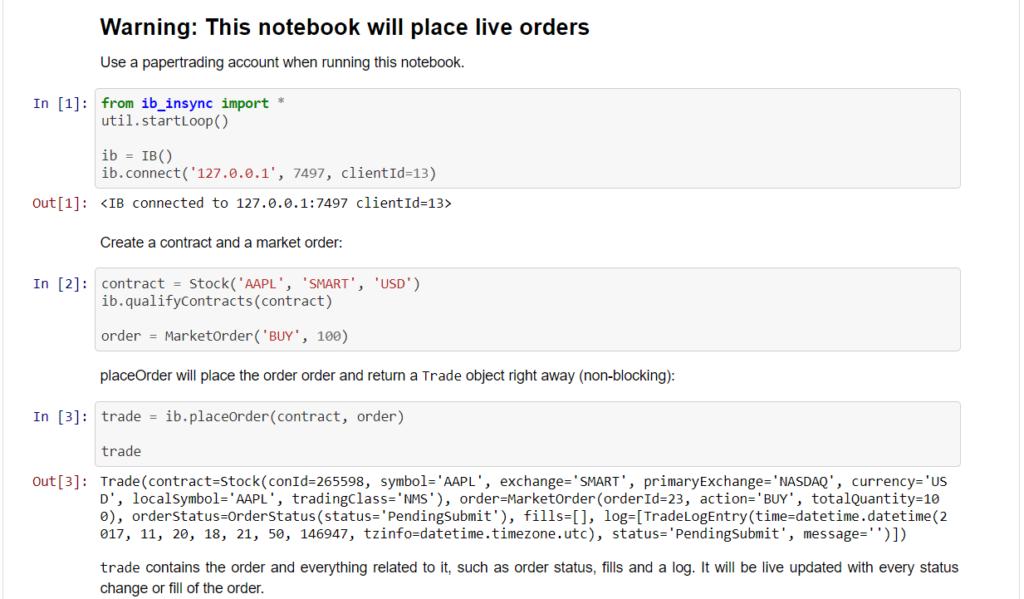 ib_insync orders notebook